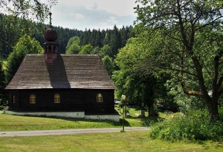 Dřevěný kostel sv.Jana Nepomuckého Klepáčov